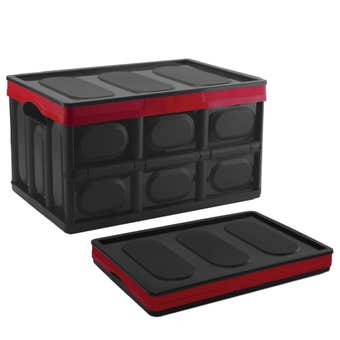 Buy Right Collapsible Storage Box Black/Red 46L