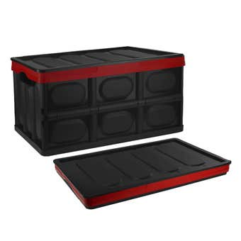 Buy Right Collapsible Storage Box Black/Red 116L