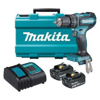 Makita 18V 3.0Ah Brushless Hammer Driver Drill Kit DHP485SFE
