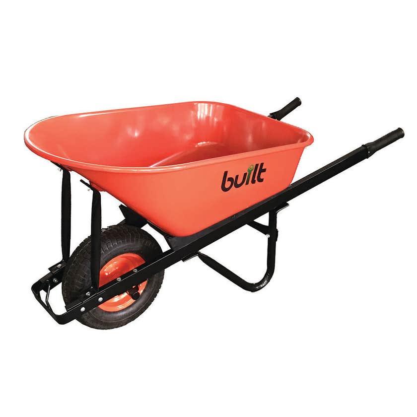 Built Heavy Duty Metal Tray Wheelbarrow 100L