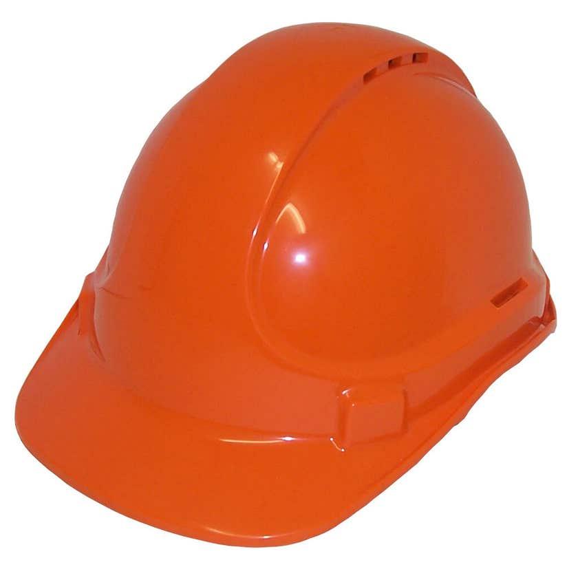 3M Protector Vented Safety Helmet Orange