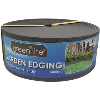 Greenlife Plastic Garden Edging Black 10m x 75mm