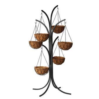 Hanging Basket Stand Hammertone 6 Hanger