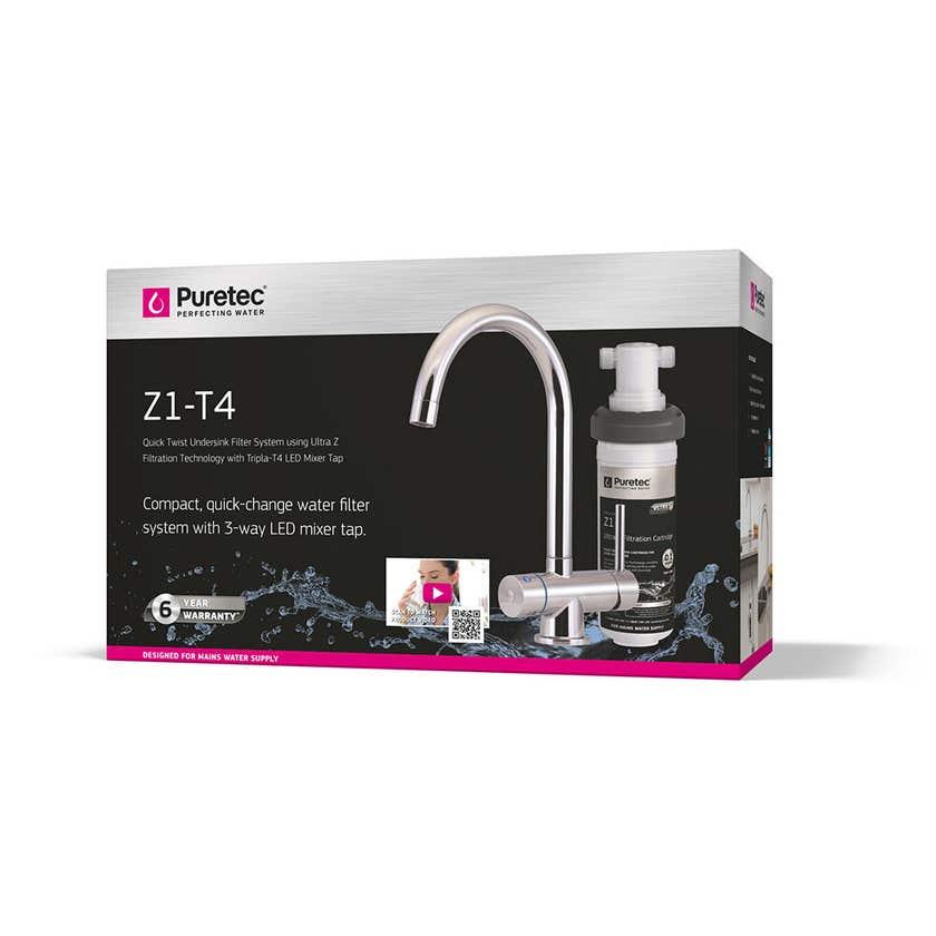 Puretec Quicktwist Undersink Filter System with Tripla LED Mixer Tap