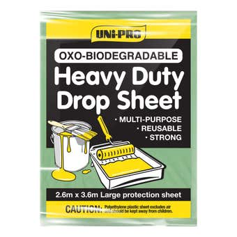 Uni-Pro Biodegradable Drop Sheet Heavy Duty 2.6M - 3.6M