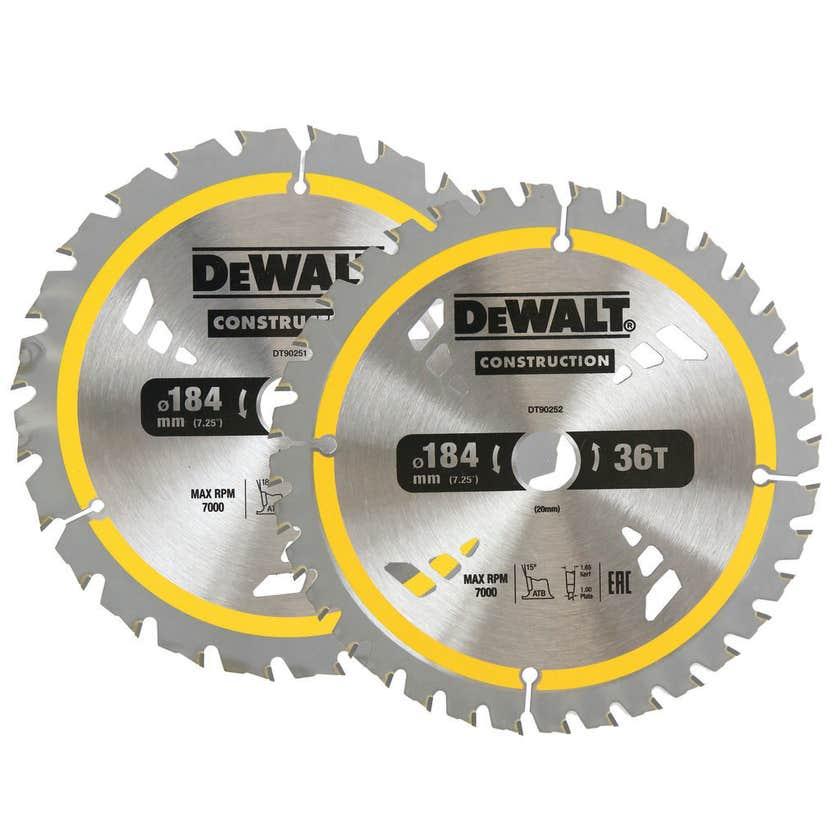 DeWALT Construction Circular Saw Blade - 2 Pack