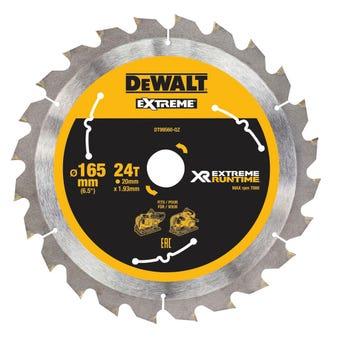 DeWALT Extreme Circular Saw Blade RT 165mm 24T