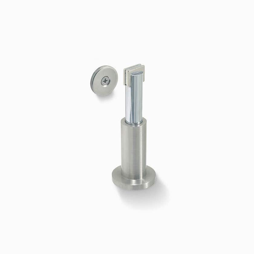 Delf Adjustable Magnetic Floor/Wall Stop Bright Chrome