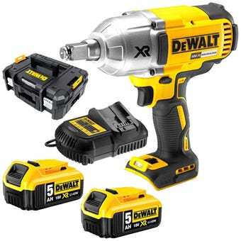 DeWALT 18V 5.0Ah XR Li-Ion Brushless Impact Wrench Combo Kit DCF899HP2-XE