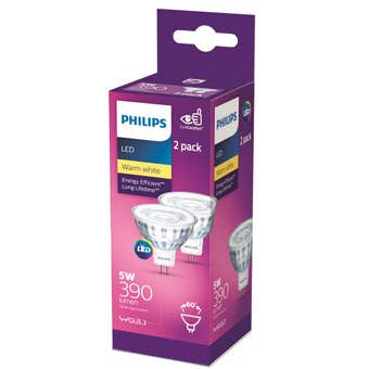 Philips LED Downlight MR16 Classic 5W (50W) 390lm - 2 Pack