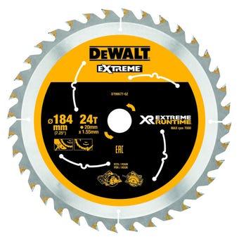 DeWALT Extreme Circular Saw Blade 24T 184mm