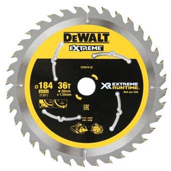 DeWALT Extreme Runtime Circular Saw Blade 36T 184mm