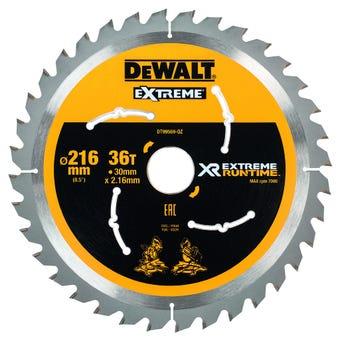 DeWALT Extreme Runtime Circular Saw Blade 36T 216mm