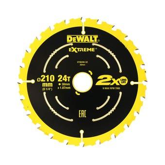 DeWALT Extreme Circular Saw Blade 24T 210mm