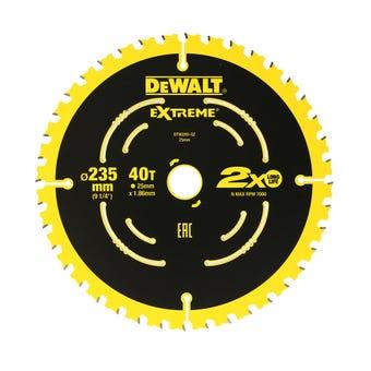 DeWALT Extreme 2x Life Circular Saw Blade 40T 235mm