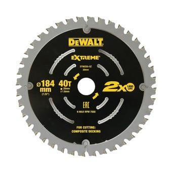 DeWALT Extreme Circular Saw Blade 40T 184mm