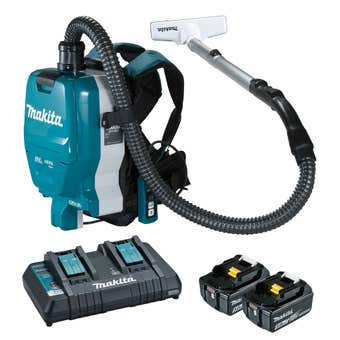 Makita 18V x 2 Brushless 2 x 5.0Ah Backpack Vacuum Kit DVC261TX13