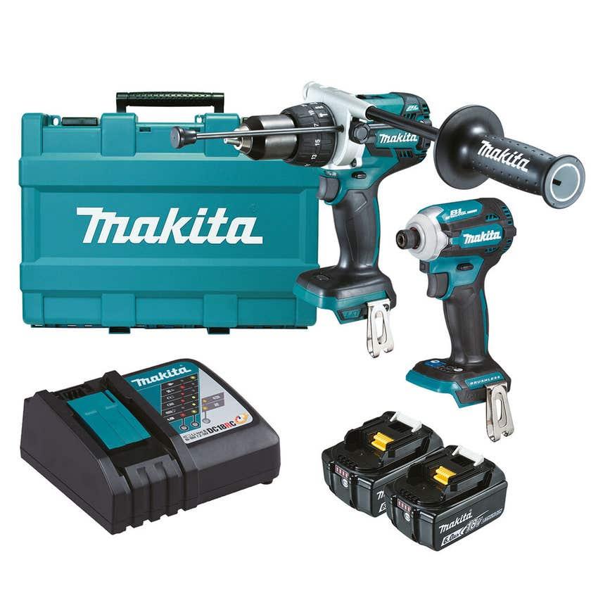 Makita 18V 6.0Ah Brushless Combo Kit - 2 Piece DLX2308G