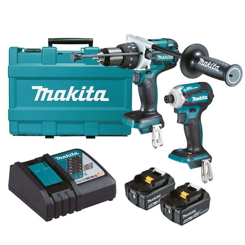 Makita 18V 5.0Ah Brushless Combo Kit - 2 Piece DLX2308T