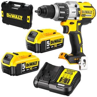 DeWALT 18V 5.0Ah XRP Li-Ion Cordless Brushless 3-Speed Hammer Drill Combo Kit DCD996P2-XE