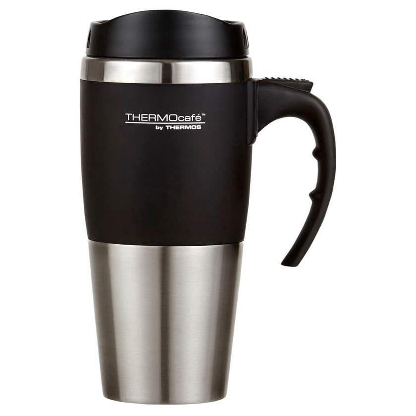 THERMOcafe™ 450ml Double Wall Stainless Steel Travel Mug - Black