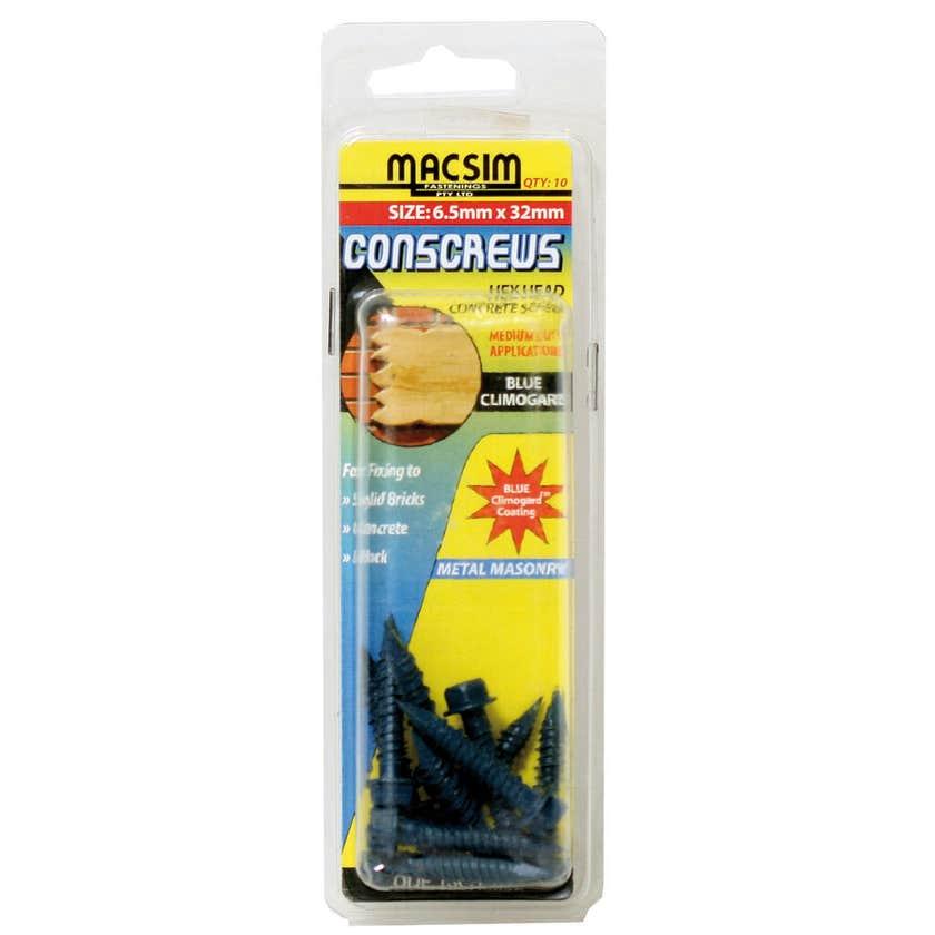 Macsim Conscrew Hex Head 6.5mm x 58mm HP10