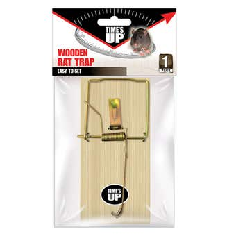 Times Up Wooden Rat Trap