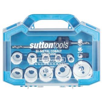 Sutton Tools General Purpose Bi-Metal Cobalt Holesaw Set - 10 Piece