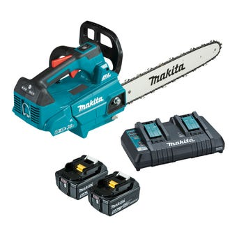 Makita 36V (18Vx2) Brushless Top Handle Chainsaw 300mm Kit DUC306PT2