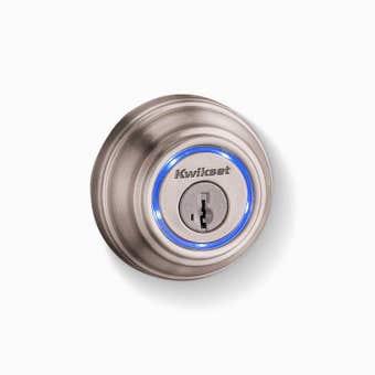 Kwikset Kevo Traditional Smart Lock Deadbolt Satin Nickel