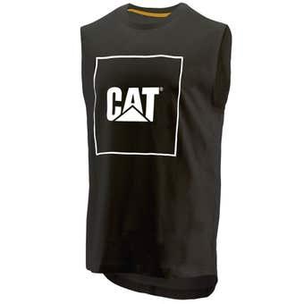 CAT Muscle Logo T-Shirt Black Large