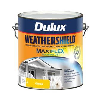 Dulux Weathershield Exterior Gloss Vivid White 4L