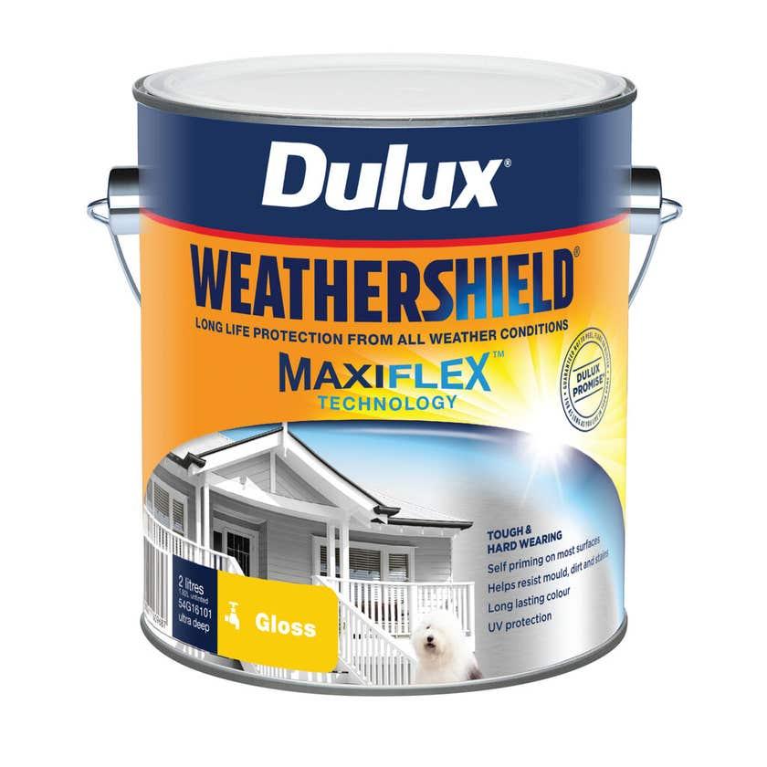 Dulux Weathershield Exterior Gloss Ultra Deep Base 2L