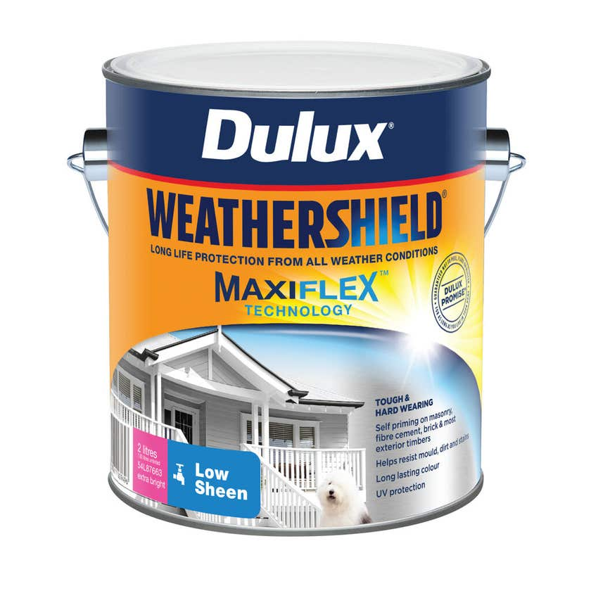 Dulux Weathershield Exterior Gloss Extra Bright Base 2L