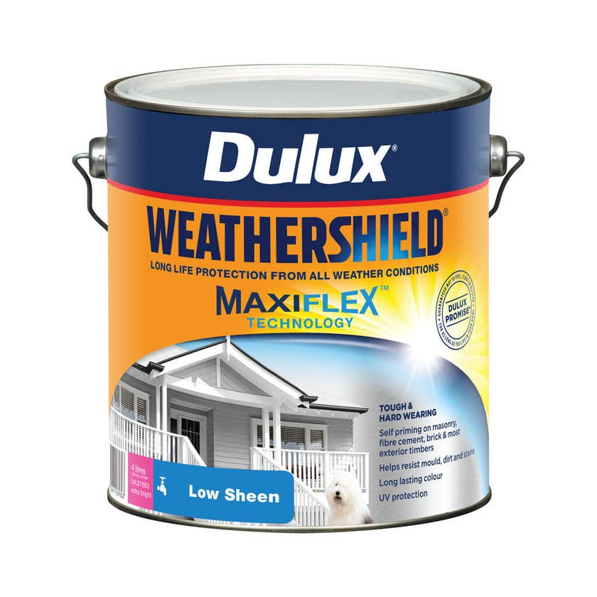 Dulux Weathershield Exterior Gloss Extra Bright Base 4L