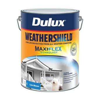 Dulux Weathershield Exterior Low Sheen Vivid White 10L