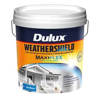 Dulux Weathershield Exterior Low Sheen Vivid White 15L