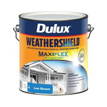 Dulux Weathershield Exterior Low Sheen Vivid White 4L