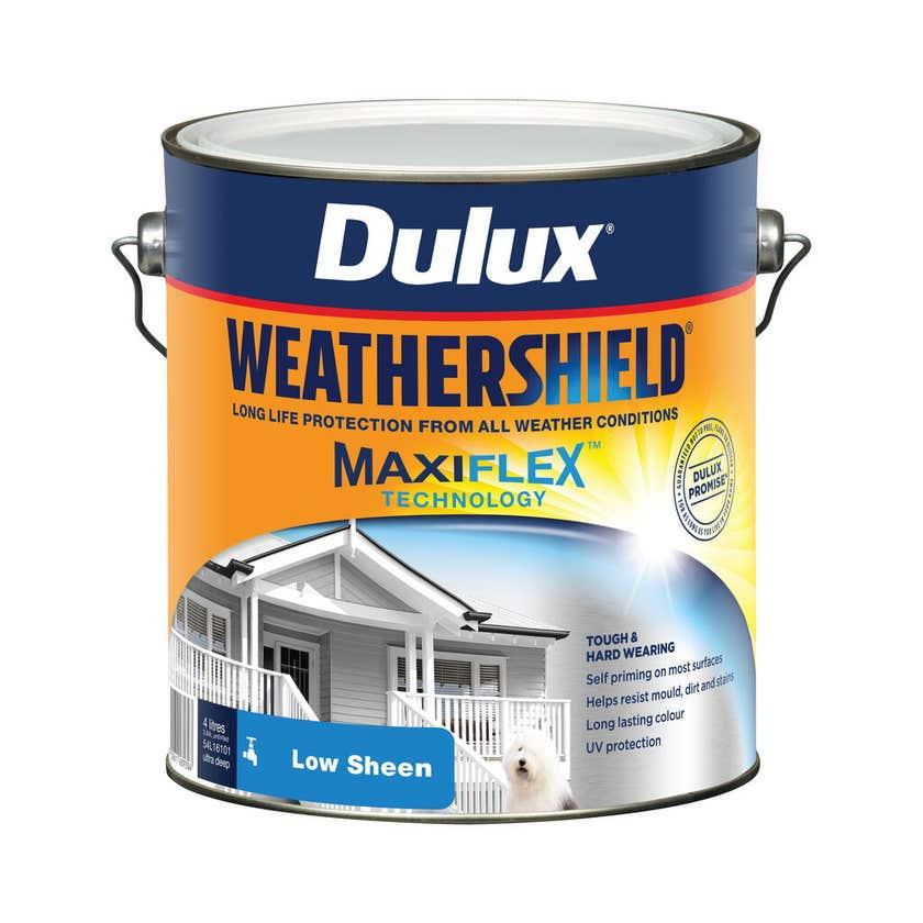 Dulux Weathershield Exterior Low Sheen Ultra Deep Base 4L