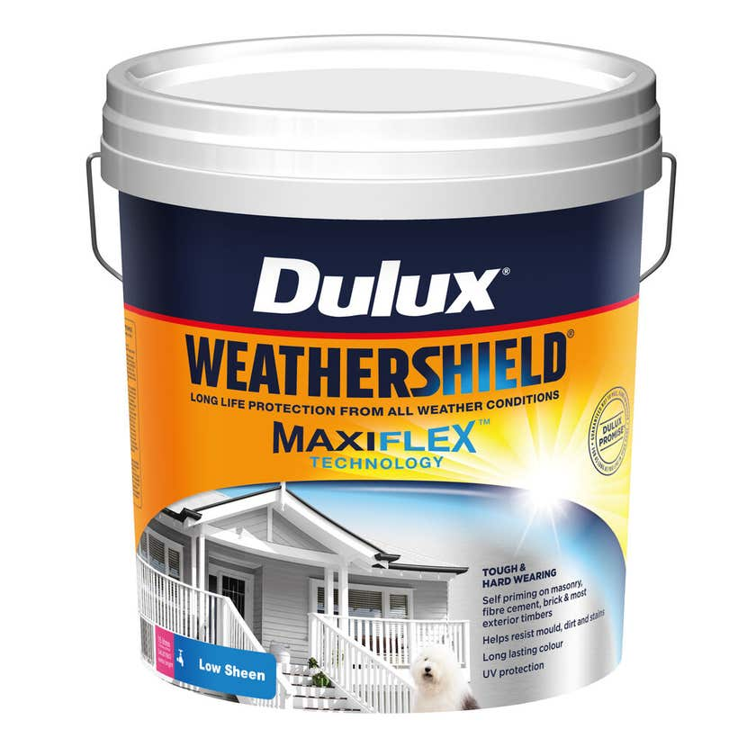 Dulux Weathershield Exterior Low Sheen Extra Bright Base 15L