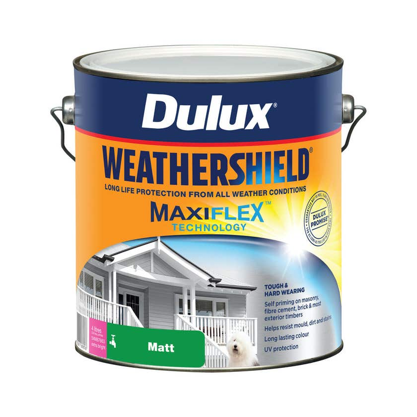 Dulux Weathershield Exterior Matt Extra Bright Base 4L