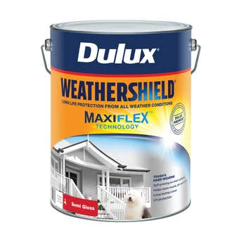 Dulux Weathershield Exterior Semi Gloss Vivid White 10L