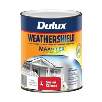 Dulux Weathershield Exterior Semi Gloss Vivid White 1L