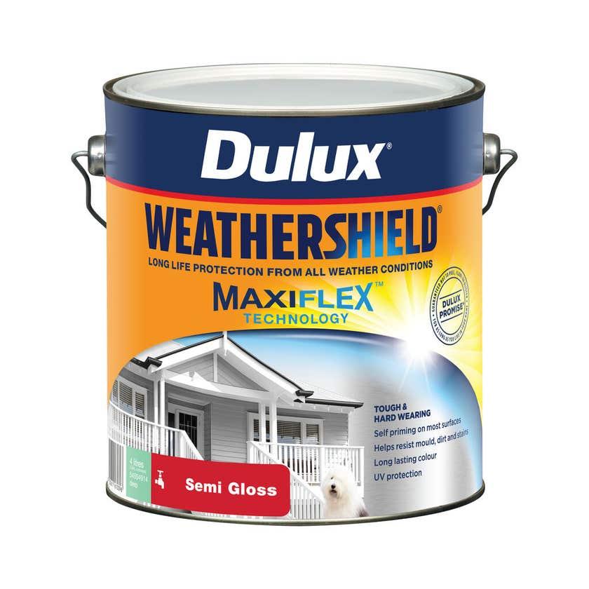 Dulux Weathershield Exterior Semi Gloss Deep 4L
