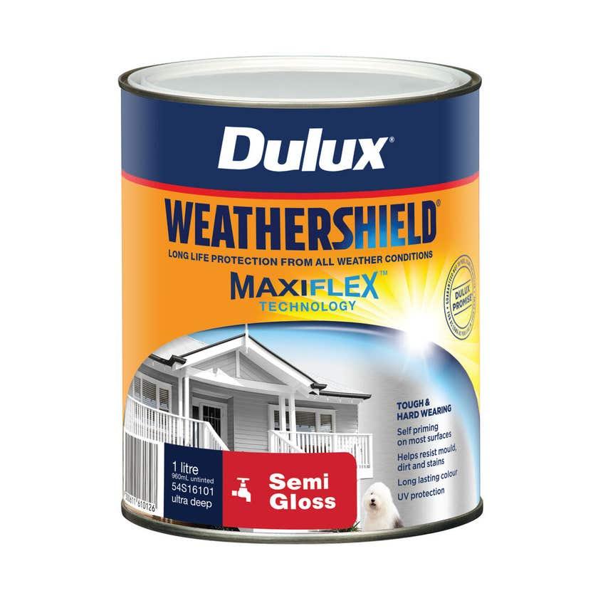 Dulux Weathershield Exterior Semi Gloss Ultra Deep Base 1L