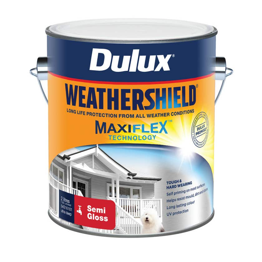 Dulux Weathershield Exterior Semi Gloss Ultra Deep Base 2L