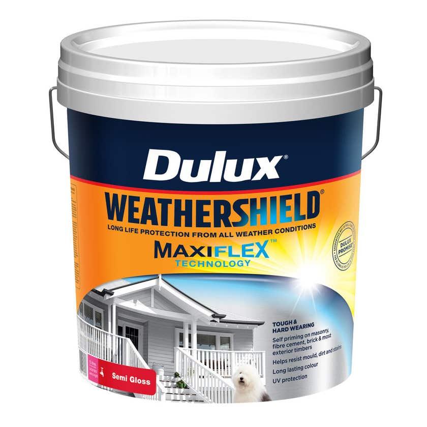 Dulux Weathershield Exterior Semi Gloss Extra Bright Base 15L