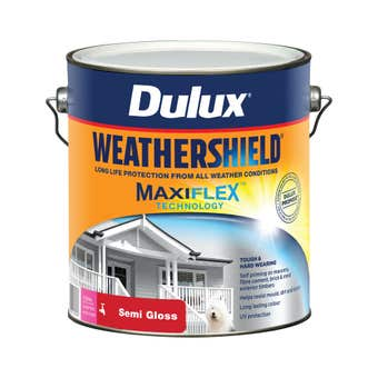 Dulux Weathershield Exterior Semi Gloss Extra Bright Base 4L