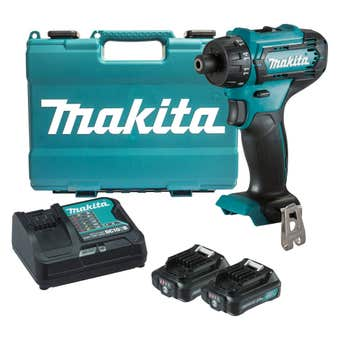 "Makita 12V Max 1/4"" Hex Chuck Driver Drill Kit DF033DSAE"