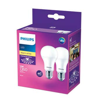 Philips LED Globe ES 12W 1360lm Warm White - 2 Pack